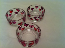 Pink and Purple Hearts Small Tealight Holder