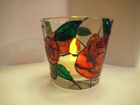 Art Nouveau Rose Medium Tealight Cup (2)