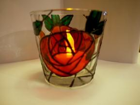 Art Nouveau Rose Medium Tealight Cup