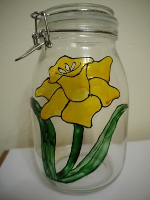 Daffodil Clip Lid Jar (1.0l) £7.50