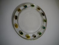 Green Dot Design Candle Dish