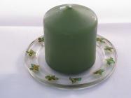 Green Leaf Candle Dish