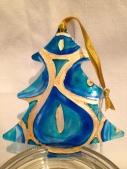 Blue/Gold Christmas Tree Decoration (£4.00)