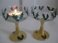 Christmas Tealight Glass (£2.50)