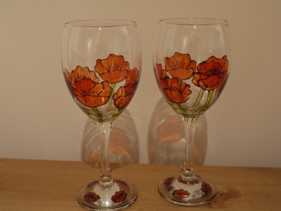 Poppy with Stems (£12 a pair)