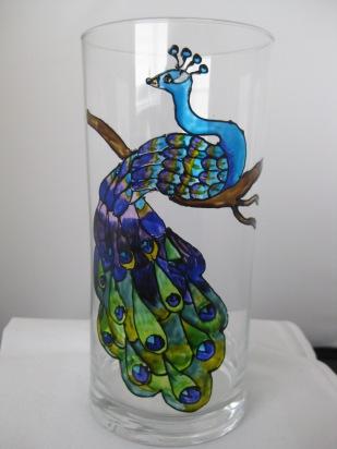 Peacock Vase (£8.00)
