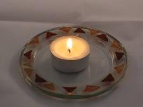 Pink& Purple Triangle Candle Dish