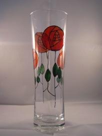 Red Art Nouveau Rose Vase (£6.00)