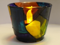 Stained Glass Small Tealight Cup v2