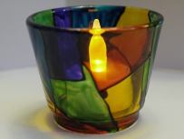 Stained Glass Small Tealight Cup