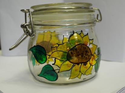 Sunflower Clip Lid Jar (0.5l)