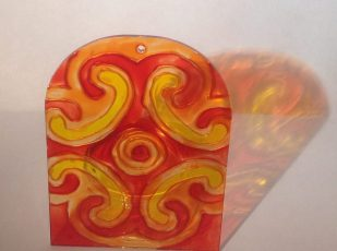 Yellow and Red Celtic Spiral (Med2)