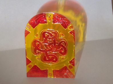 Yellow and Red Celtic Knotwork (Med2)