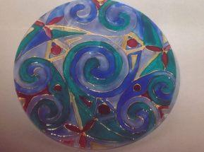 Blue Celtic Spiral (Med 2)