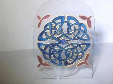 Blue Celtic Knotwork (Med2)