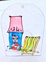 Beach Hut & Deck Chair (Med1)