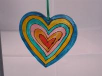Multi Hearts Suncatcher