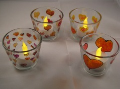 Valentine Small Tealight Cups (£4.00)