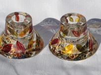 Earth Colour Candle/Tealight Holders