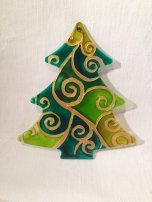 Green and Gold Christmas Tree (£4.00)