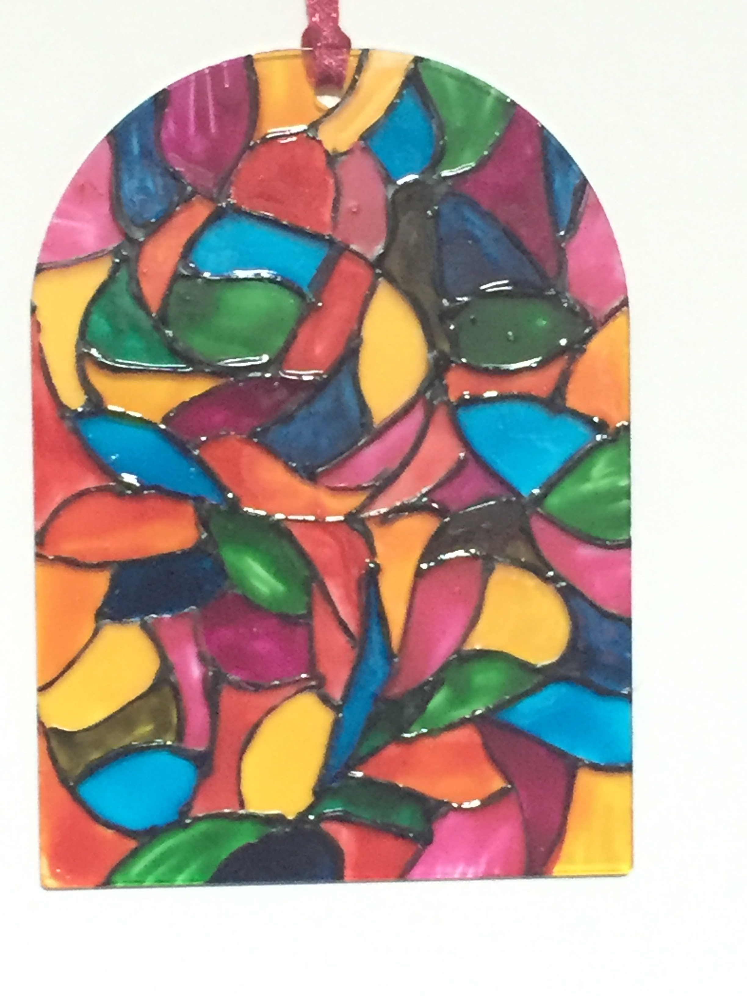 Multi-coloured stained glass